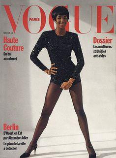 Photo: Naomi Campbell by Santé d'Orazio for the cover of Vogue Paris, March 1990