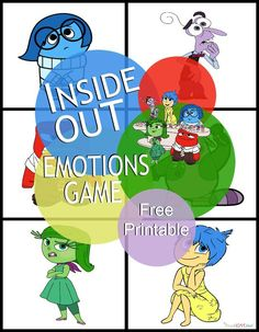 Inside Out Emotions Game ad InsideOutMovieNight CollectiveBias Emotions Game, Feelings And Emotions, Teaching Emotions, Feelings Chart, Social Skills Activities, Counseling Activities, Emotions Activities, Elementary School Counseling, School Social Work