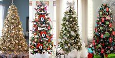 Décoration sapin de Noël : 60 idées pour s'inspirer :http://jefouinetufouines.fr/2013/12/04/tendance-idees-sapin-de-noel/