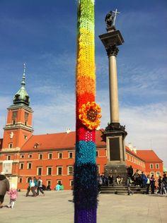 Street lamp near Palace in Warsaw, Poland