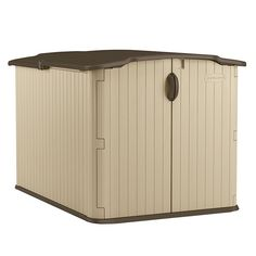 Shed - Lotus Metal Shed Suncast Storage Shed, Garden Storage Shed, Plastic Sheds, Yard Tools, Wood Grain Texture, Outdoor Spaces, Outdoor Decor, Resin Material, Recycling Bins