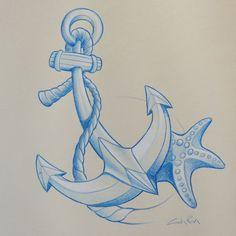 "Sketch ""new style yet&seastar ? - pencil on paper #newstyletattoo #yet #seastar © Giulia Riva graphic‹&art"