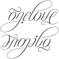One love/family tattoo. Just might have to get this.. <3