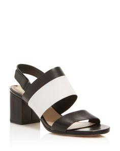 289bc54a1 Via Spiga Jamilla Slingback Mid Heel Sandals Shoes - Bloomingdale s