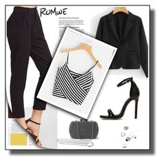 """romwe 10/III"" by amina-haskic ❤ liked on Polyvore"