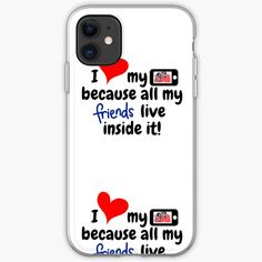 'Social Media friends' iPhone Case by Iphone Wallet, Iphone 11, Iphone Case Covers, Cover Design, Nerd, Study, Social Media, Bedroom, Printed