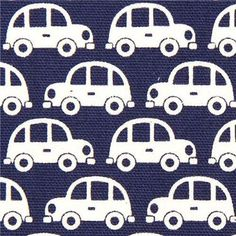 164972 funny white cars fabric for boys by