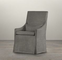 Slipcovered Slope Arm Dining Armchair | Fabric Arm & Side Chairs | Restoration Hardware
