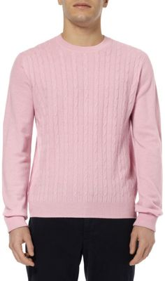 MEN'S CABLEKNIT cashmere sweaters | hackett-pink-mayfair-cable-knit-cashmere-sweater-product-1-16252636-0 ...