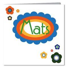 Geboortekaartje, jongen, mats, retro, kleuren, bloemen