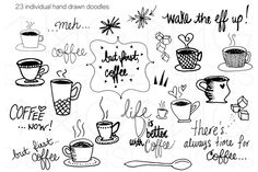 Hand Drawn Doodle Clip Art  by TWG Designs on @creativemarket