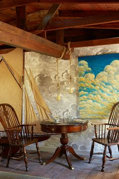 "Interior designer/stylist Scot Meacham Wood. ""A Piece of Sky"" by Daniel Tousignant."