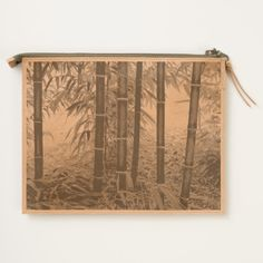 Bamboo Forest Leather Travel Pouch
