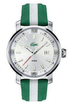 Preppy Lacoste watch - Fabric Strap