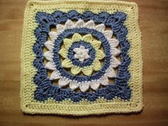 "Sweet and fair afghan square 12"" (pattern) by Julie Yeager"