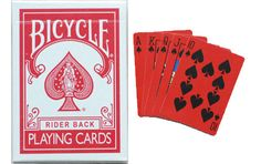 Bicycle The Red Deck Playing Cards. #playingcards #poker #games