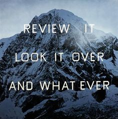 Ed Ruscha REVIEW IT  LOOK IT OVER  AND WHAT EVER