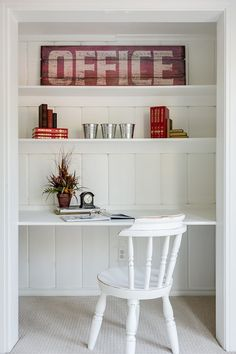 Office in a closet, creative use of space, staging to sell, staging to dwell, home star staging, dallas texas home staging, photo by Unique Exposure Photography 2012