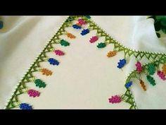 ÇAM YAPRAKLI ŞİŞ OYASI YAPIMI | Nazarca.com Knitted Shawls, Knitted Poncho, Knit Shoes, Sweater Design, Baby Knitting Patterns, Knitting Socks, Hand Embroidery, Knit Crochet, Crochet Necklace