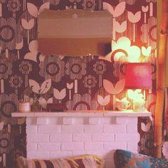 My favourite original 1960s wallpaper in our bedroom.