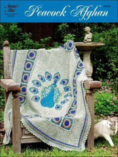 Peacock Afghan (Tunisian Crochet) - This is, like, a whole new world of crochet projects for me! And it looks way easier than filet crochet (which is something else I want to try some day).