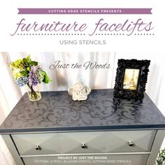 Stencils Give Old Furniture A Fresh New Look! Good morning, my Cutting Edge Stencils friends! Making over one piece of furniture can give your whole room a new look and feel. Our furniture stencils can make these projects simple and inexpensive. All it takes is a little bit of creative thinking, pa