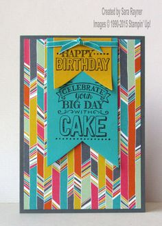 Big day card, using Sale-a-bration 2015 supplies from Stampin' Up! www.craftingandstamping.com #stampinup