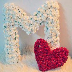 Alphabet Tattoo Designs, Alphabet Design, Flower Words, Flower Letters, Alphabet Wallpaper, Name Wallpaper, Valentines Flowers, Valentines Gifts For Her, M Letter Design
