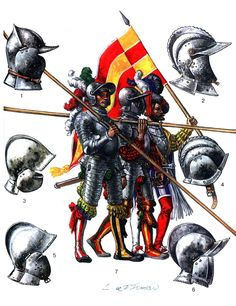 Heavily Armored Landsknechts of the Early 16th Century