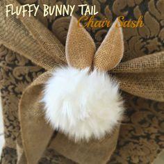Fluffy Bunny Tail Chair Sash Tutorial