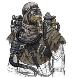 View an image titled 'Survivalist Art' in our Dark Void art gallery featuring official character designs, concept art, and promo pictures. Post Apocalyptic Costume, Post Apocalyptic Art, Post Apocalyptic Fashion, Character Concept, Character Art, Character Design, Mad Max, Cyberpunk, Dystopia Rising