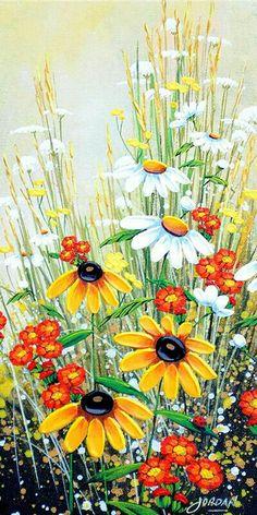"""Lady Bug V"" painting by artist Jordan Hicks. Art Floral, Watercolor Flowers, Watercolor Paintings, Oil Paintings, Watercolour, Simple Acrylic Paintings, Fence Art, Beginner Painting, Painting Inspiration"