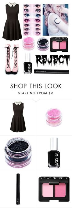 """Pastel Goth #23"" by neverlandcth ❤ liked on Polyvore featuring Medusa's Makeup, Essie, Antonym and NARS Cosmetics"