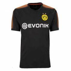 2017 Cheap Goalie Jersey Dortmund Black Replica Shirt [AFC563]