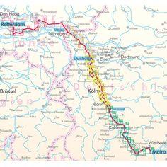 Rhein Radweg 3 Bikeline Fietsgids