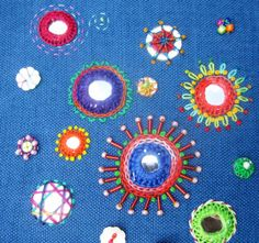 In an evening or half day workshop you will learn the stitching techniques for attaching small round mirrors onto fabric plus some stitches to add around the mirrors for decoration. In a full day …