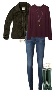 """winter outfit"" by sassy-and-southern ❤ liked on Polyvore featuring mode, Abercrombie & Fitch, Marc by Marc Jacobs, Hope, Hunter, Tory Burch, Alexandra Beth Designs et sassysouthernwinter"