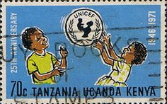 Postage Stamps Kenya Uganda Tanzania 1972 UNICEF SG 310 Fine Used Scott 247 Other KUT Stamps HERE
