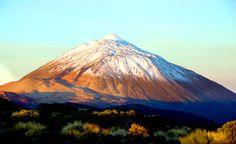 paisajes bonitos de españa pico del teide nevado nieve tenerife montañas imagenes fotos wallpaper canarias