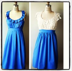 Cornflower Blue Bridesmaid Dresses by Amanda Archer