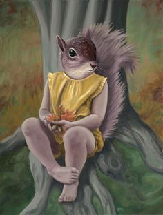 """""""Shadow Tail"""" by Anna Magruder, oil #Art #Painting #Surrealism"""