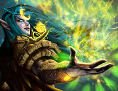 World of Warcraft - alianza - Elfa de la noche