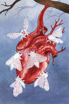 The Blossoming Pestilence - Caitlin Rose Painting Inspiration, Art Inspo, Illustration Tumblr, Insect Art, Anatomy Art, Dope Art, Surreal Art, Aesthetic Art, Art Boards