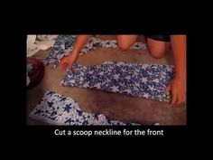 How to make a dress with a scoop neck and cap sleeves - YouTube
