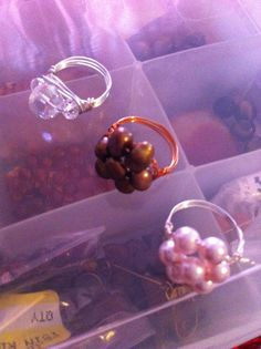 Freshwater pearl wire wrapped clusters!!