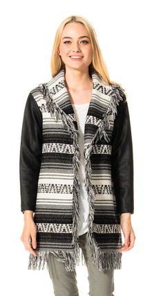 Fringe Jacket in Black & White.