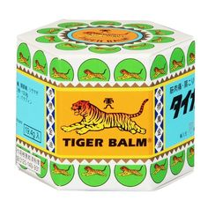"""Tiger Balm like tattoo on wrist with blind fold or sunglasses to represent """"blind tiger"""""""