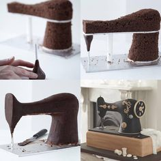 Zoë Clark Cakes October 13 · Sewing machine construction!