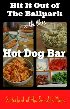 Reinvigorate your summer party plans with an easy, but delicious hot dog bar full of tasty surprises (and recipes). Pimiento cheese or blue cheese devil toppings anyone? | Sisterhood of the Sensible Moms