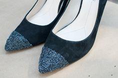 Caviar tipped heels